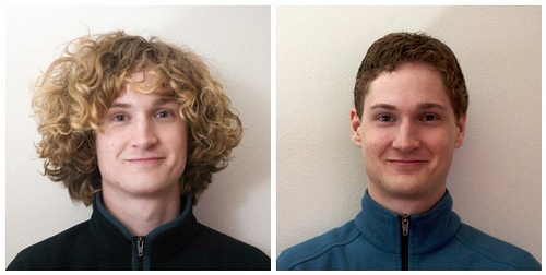 """""""Robb's Haircut: Before & After"""" http://www.flickr.com/photos/robbplusjessie/3142028698/in/photostream/"""
